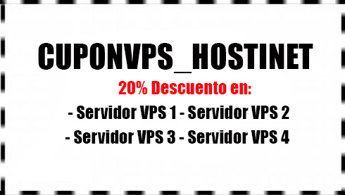 Cupón para Servidores VPS de Hostinet