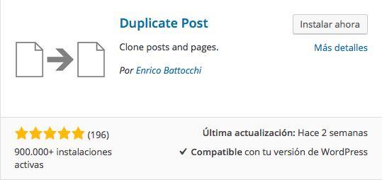duplicate post plugin para WordPress