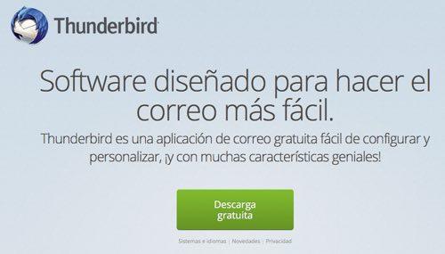 descargar thunderbird versión