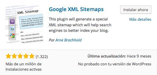 plugin Google XML Sitemaps para WordPress