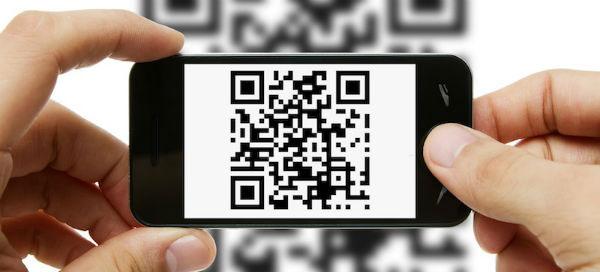 Código QR escaneado con el móvil