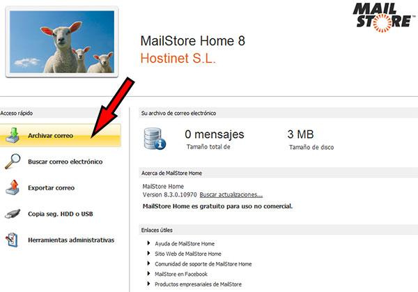 MailStore -> Archivar Correo