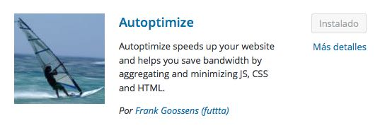 autoptimize plugin para WordPress