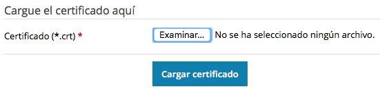 cargar certificados SSL