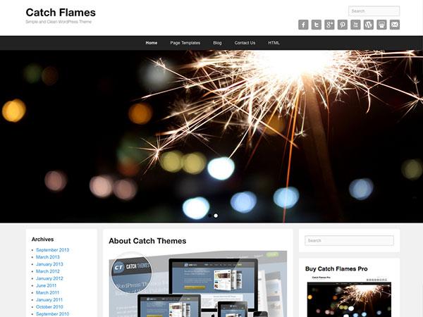 catch flames theme