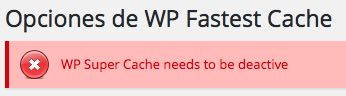 desactivar wp super cache para WordPress
