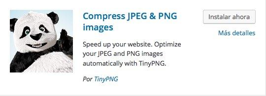 imagenes tinypng para WordPress