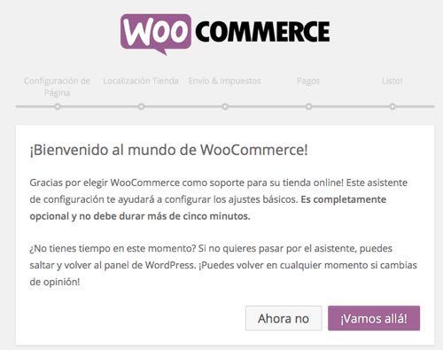 bienvenida woocommerce