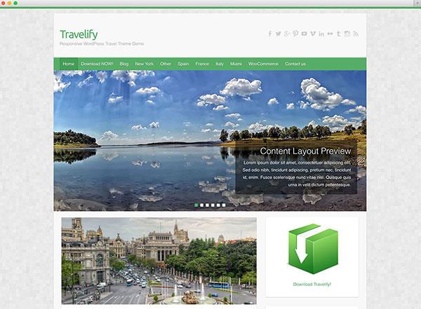 travelify travel theme