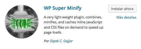 wp super minify 2 para WordPress