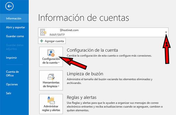 Outlook2016 Informacion Cuentas