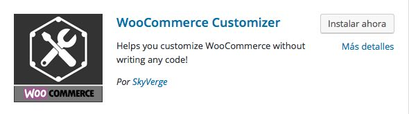 WooCommerce Customizer plugin para WordPress