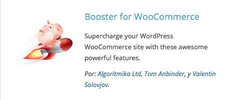 booster plugin para WooCommerce