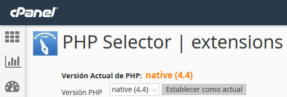 cPanel php selector extensions