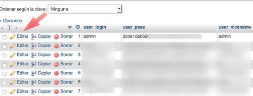 editar admin en php my admin