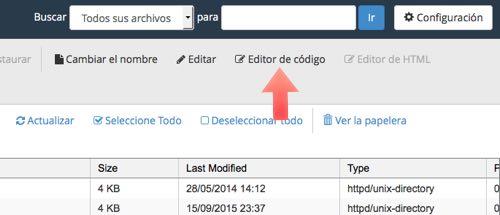 editor codigo desde el administrador de archivos