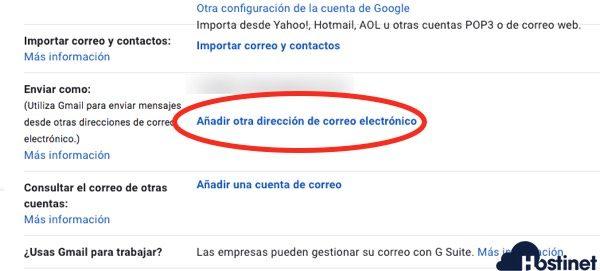enviar con una cuenta correo corporativa gmail