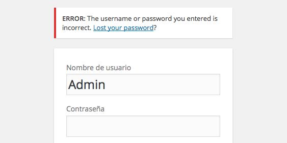 error de acceso admin WordPress
