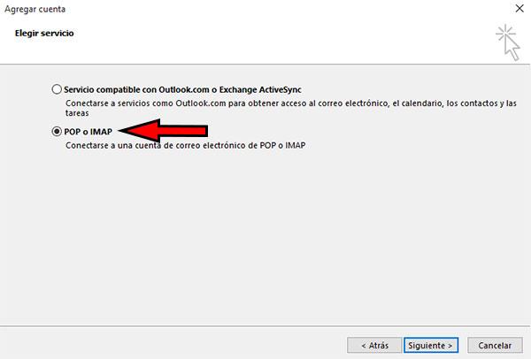 Outlook2016 - Agregar Cuenta Manual POP o IMAP