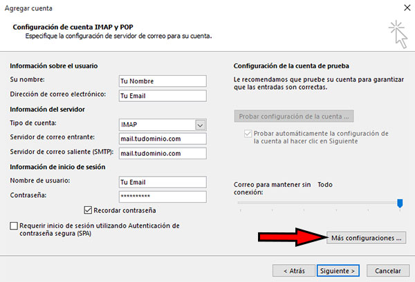 Outlook 2016 + Configuraciones