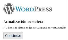 WordPress Actualización Completa