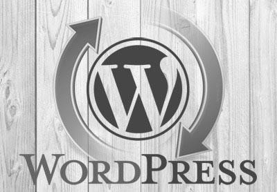 WordPress actualización flechas giratorias