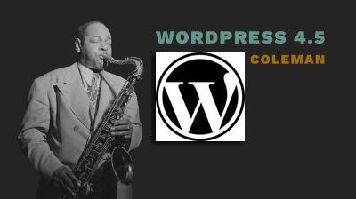 wordpress 4.5 coleman