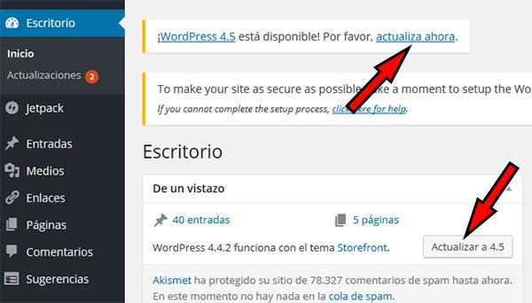 WP Actualizar 4.5