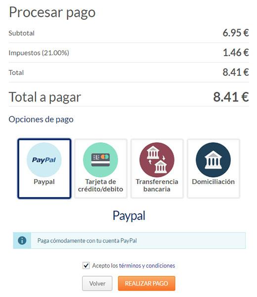 Hostinet Procesar Pago Dominio .es