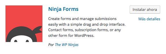 Ninja Forms plugin para wordpress