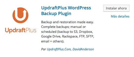 UpdraftPlus WordPress Backup Plugin para WordPress