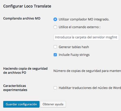 configurar loco translate en WordPress