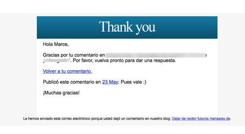 email de agradeciemiento
