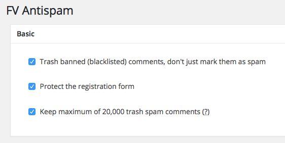 fv antispam configuracion basico