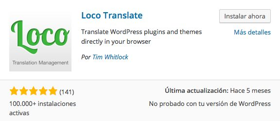 loco translate plugin wordpress