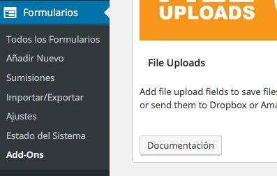 opciones ninja forms para wordpress