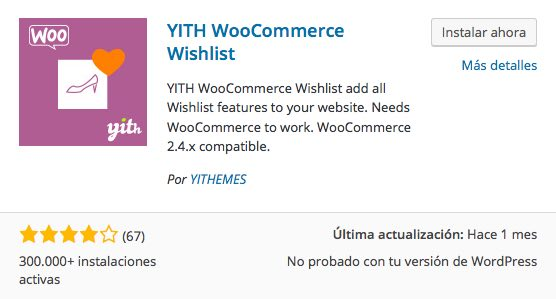 plugin lista de deseos para woocommerce