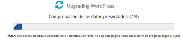 Softaculous upgrading wordpress old version 2