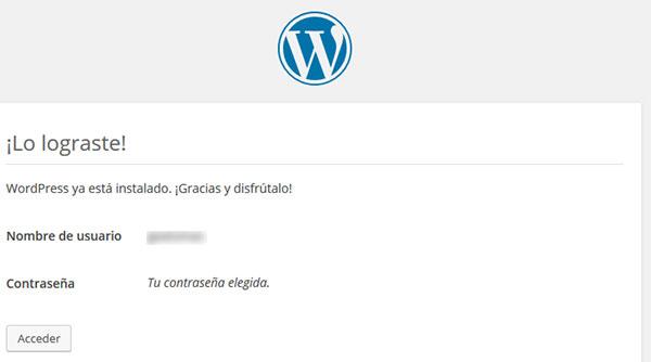 WordPress Instalación Correcta
