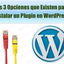 3 opciones que existen para instalar un plugin en wordpress