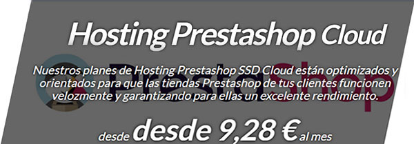 Hosting PrestaShop SSD Cloud