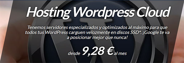 Hosting WordPress SSD Cloud