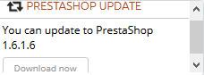 PrestaShop Actualización 1.6.1.6