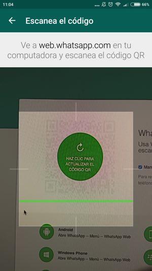 escanear el codigo desde la pantalla