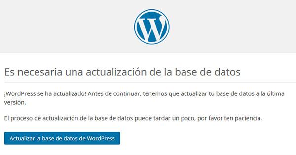 WordPress Actualizar BD