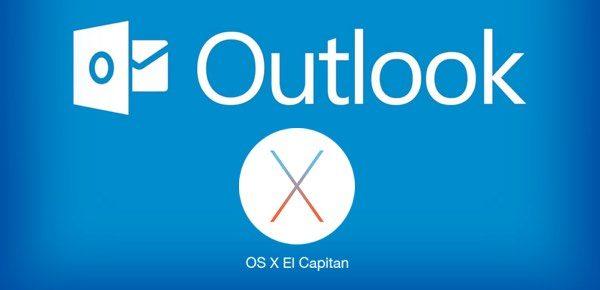 outlook elcapitan configurar email