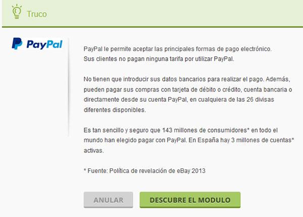 Truco PayPal Popup en PrestaShop