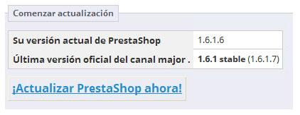 Actualizar Prestashop Ahora v.1.6.1.7