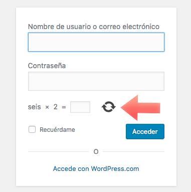 captcha activo wordpress