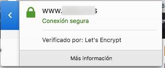 certificado instalado y activo